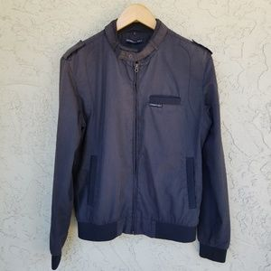 Members Only Charcoal Gray Bomber Jacket - Small